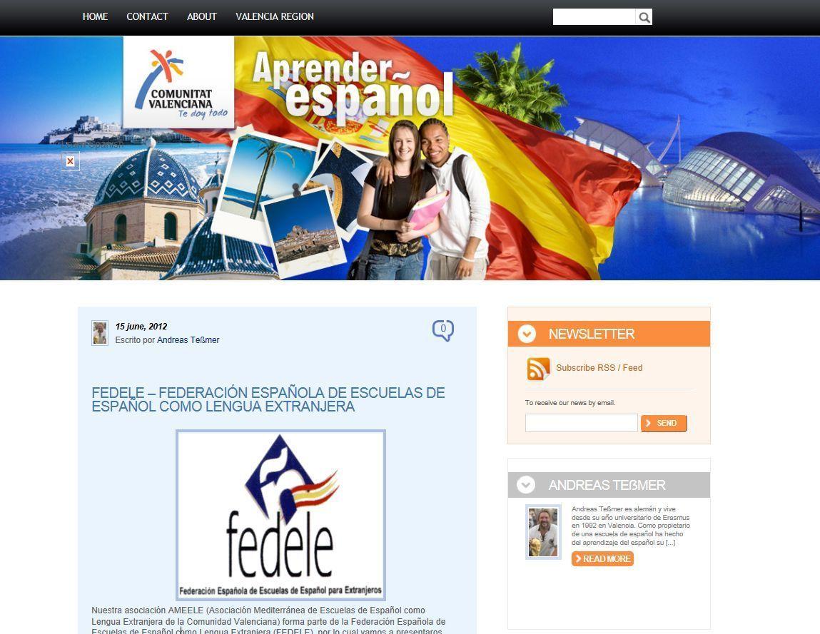 AMEELE presenta su nuevo blog Aprender Español en la Comunidad Valenciana