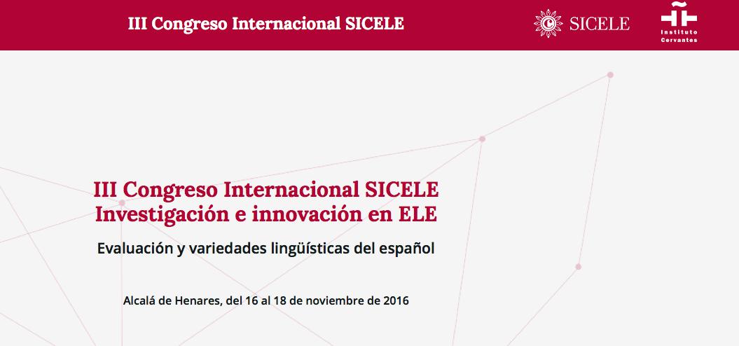 III Congreso Internacional SICELE en Alcalá de Henares (Madrid)