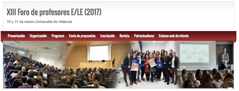 XIII Forum for Teachers of Spanish as a Foreign Language at the  Universitat de València