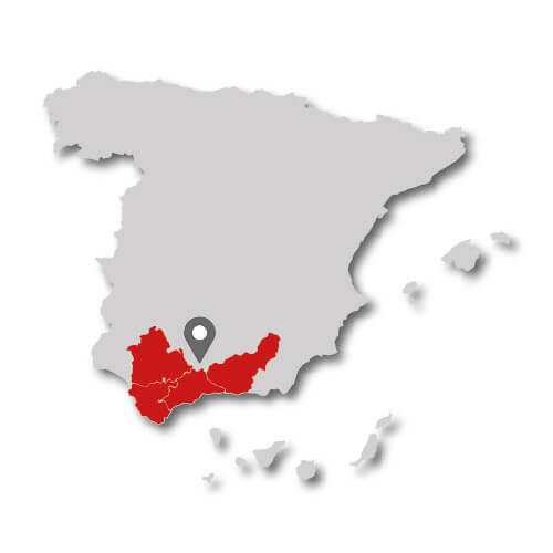 espanol andalucia mapa provincias