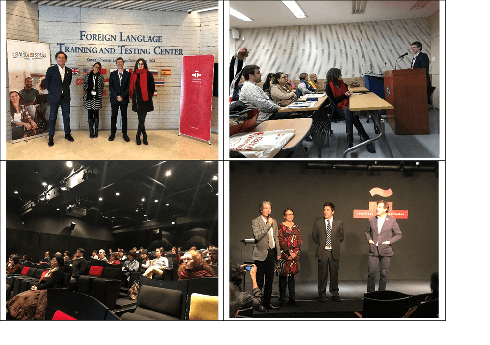 Presentaciones fedele en las sedes de instituto cervantes seul y tokio