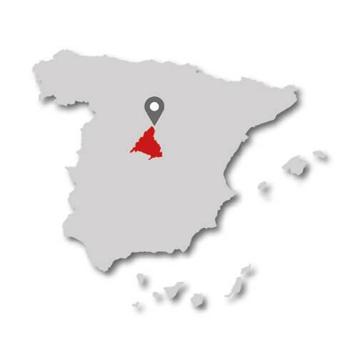 espanol madrid mapa provincias